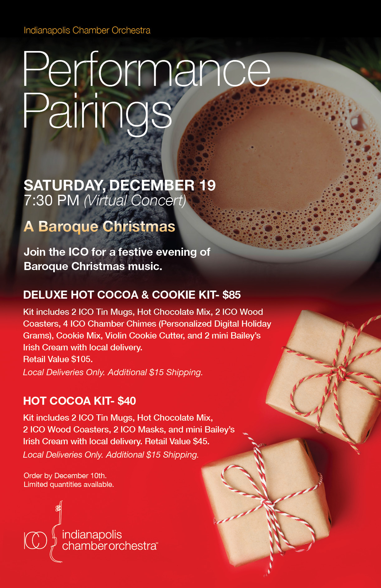 performance pairing, hot cocoa